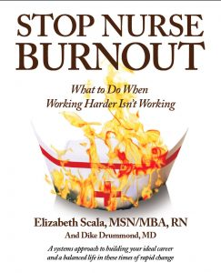 Stop Nurse Burnout Book by nurse coach Elizabeth Scala